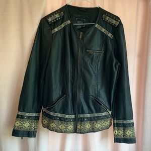 Vintage Style Leather Jacket